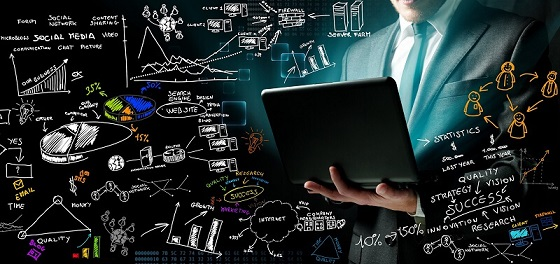 a man holding a laptop with a sketch of data lake process