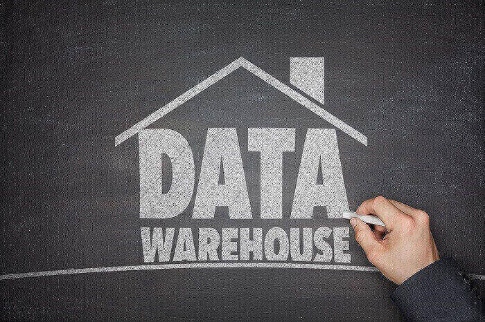 data warehouse in a chalkboard