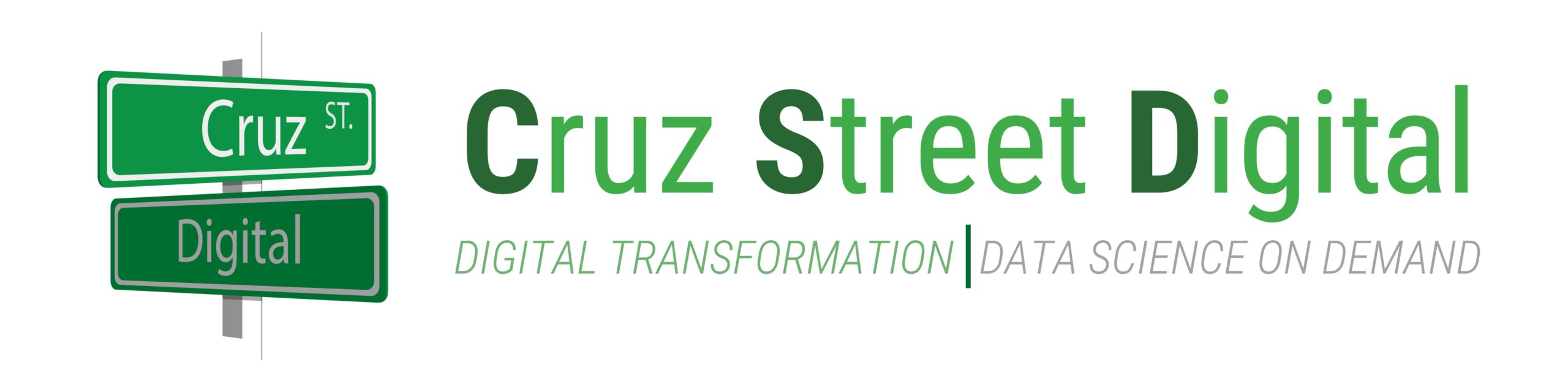 green font of cruz street digital logo