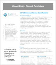 a screenshot blog of case study: global publisher