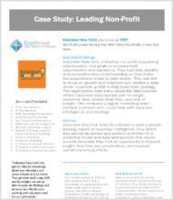a screenshot blog of case study: leading non-profit